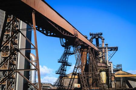 blastfurnace: Blast furnace plant in steel industry, UK Stock Photo