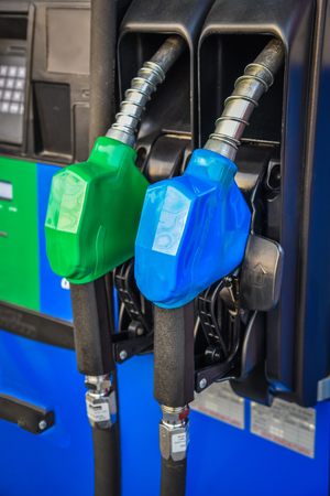 energize: Fuel pump nozzles in a service station