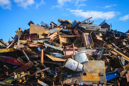 scrapyard: Scrap Steel recycling prepared for smelting in steel industry