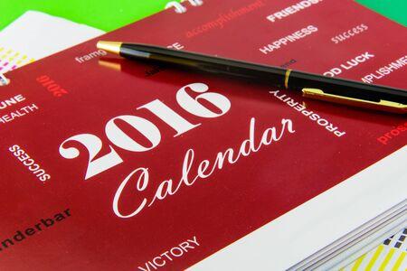 desk calendar: Desk Calendar for 2016 Stock Photo