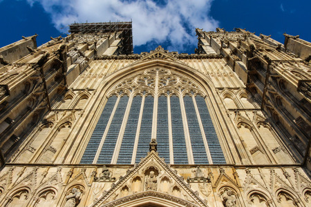 york minster: York Minster, a landmark cathedral in York, England.
