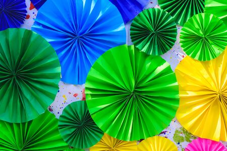 paper background: Colorful paper flowers abstract background.