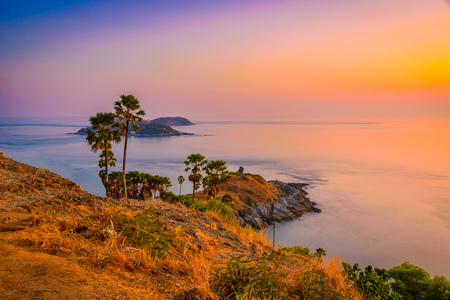 Phromthep cape viewpoint at twilight sky in Phuket,Thailand Stock Photo - 54847495