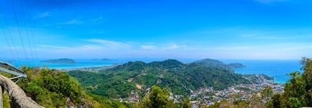phuket province: Panorama viewpoint of Phuket city, Phuket province Thailand. Stock Photo