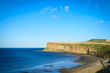 Cliff at Saltburn by the sea, North Yorkshire, UK Stock Photo
