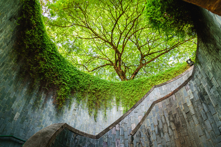 Spiral staircase at Fort Canning Park, Singapore