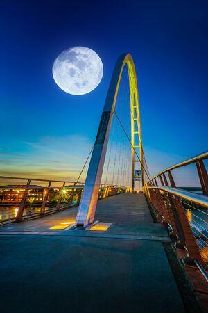 Infinity Bridge at night In Stockton-on-Tees, UK.