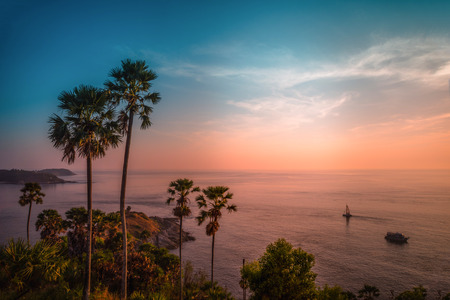 Phromthep cape viewpoint at twilight sky in Phuket,Thailand