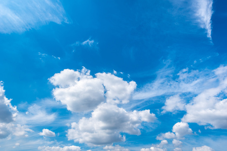 Blue sky with clouds background.