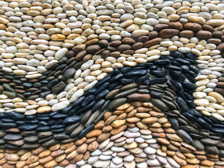 Black and white stone wall texture background 版權商用圖片