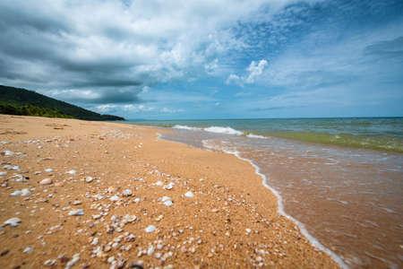 Beautiful beach and tropical sea in Phuket, Thailand. Summer beach paradise.