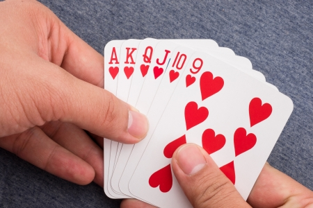 red flush on my hand Stock Photo - 25247290