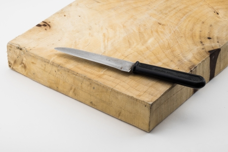 chopping block and kife photo