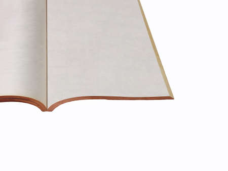 nbsp: Old book on a white background Stock Photo