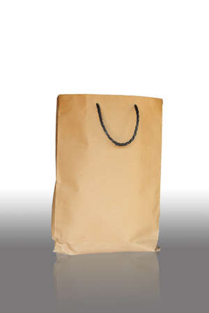 Brown paper for packing food and fruits. photo