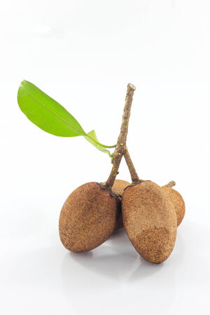 Sapodilla is a fruit that is sweet and can be found everywhere in Thailand. photo