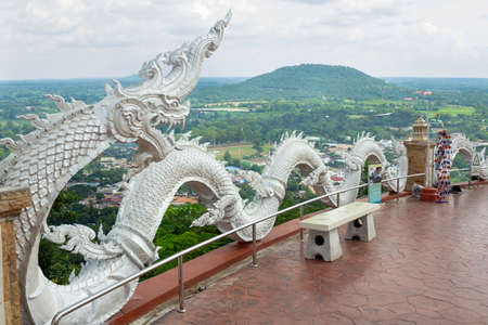 Serpent statue on the attractions of Kalasin Province.