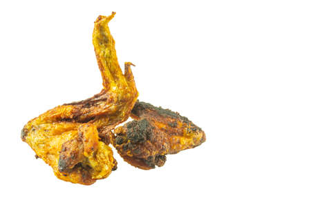 Fried chicken wings isolated on white background 免版税图像