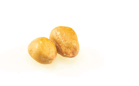 Peanut seeds isolated on a white background 免版税图像