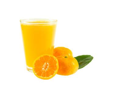 Orange juice isolated on white background