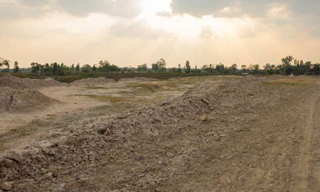 Ground is empty filled with saline soil