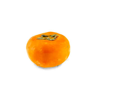 Persimmon fruit isolated on white background.cilpping path 免版税图像
