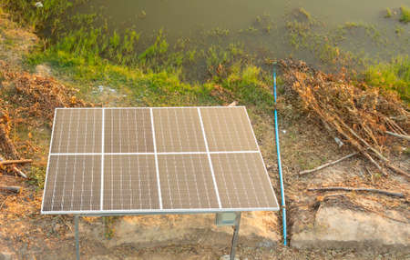 Solar cells used as renewable energy in rural Thailand
