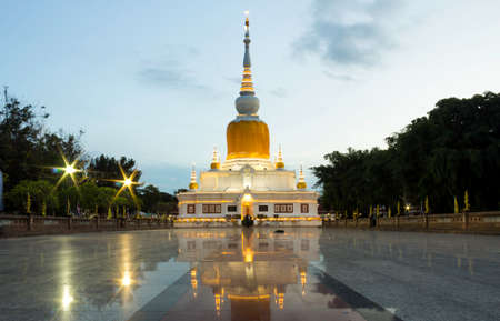 Wat Phra That Na Dun is a famous Buddhist attraction and Buddhist merit site in Mahasarakham Province, Thailand.