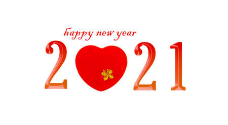 New Year 2021 isolated on white background. Banque d'images