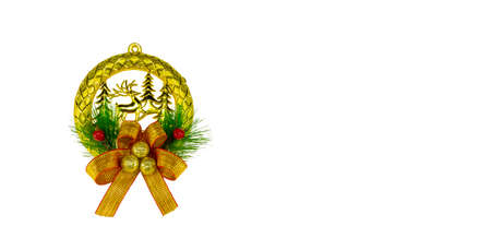 Chrismas Ribbon isolated on white background