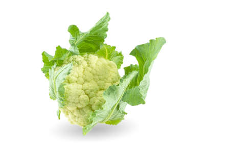 Cauliflower isolated on white background 免版税图像 - 163522165