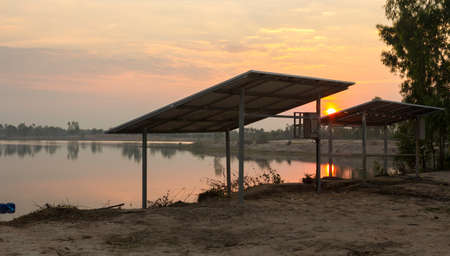 Solar energy used as renewable energy in rural Thailand