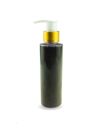 Sampoo bottle isolated on white background