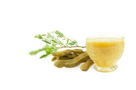 `Tamarind juice isolated on a white background