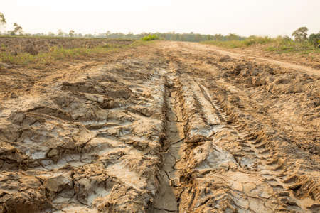 Dirt roads in rural areas of Thailand