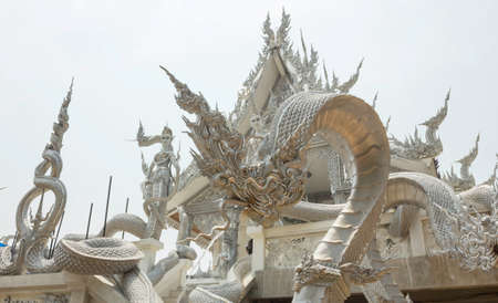 king of Nagas statue in Wat Ban Dan of Si Sa Ket Province, Thailand. 新闻类图片