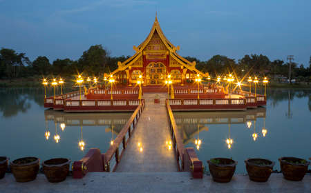 Wat Pa Lahan Sai is a temple with a beautiful construction model of Buriram Province, Thailand. 新闻类图片