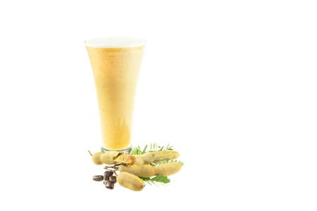 Tamarind juice isolated on a white background 免版税图像
