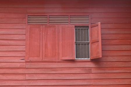 open windows: Windows red open 1 Stock Photo