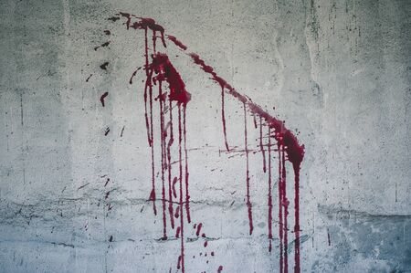 Halloween background. Blood on wall background