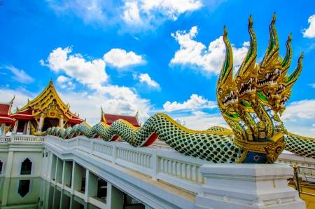 ayothaya: naga statue at thai temple , ayothaya thailand