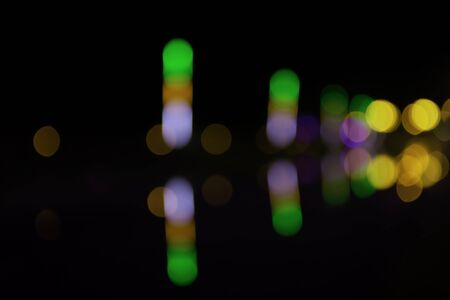 Abstract colorful blurr boken background in the darkness