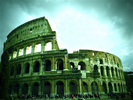 A picturesque of the Coliseum, Rome, Italy