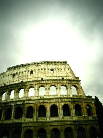 A picturesque view of the Coliseum, Rome, Italy Banco de Imagens - 12403034