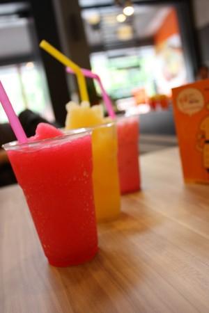 restuarant: Juice in restuarant,Thailand Stock Photo
