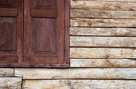 overlook: wood window