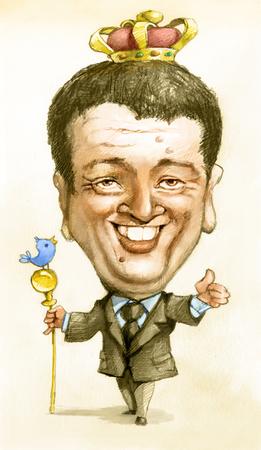 rey caricatura: Matteo Renzi primer ministro italiano