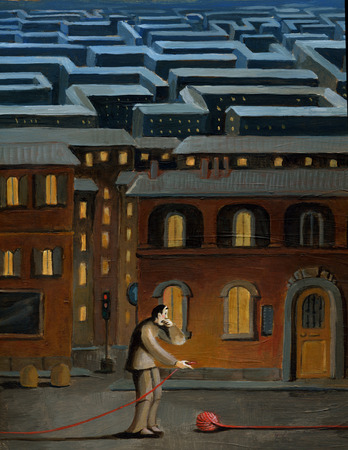 lost city: a man finds himself in the city maze to the starting point