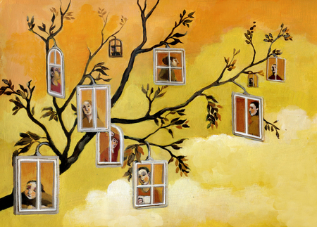 many windows: From one branch to take so many windows that overlook people