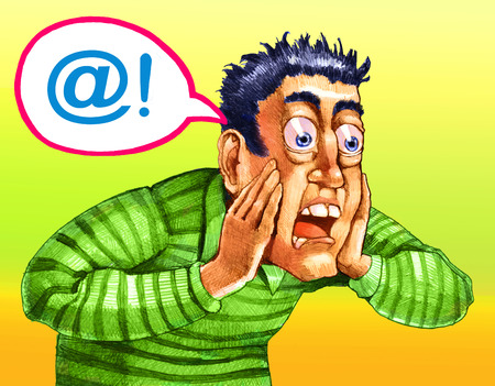 indignant: a man is indignant and says in a comic @